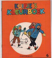 TINTIN. Album à colorier Casterman 6. Kuifje's Kleurboeck. 1971. état neuf