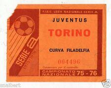 CALCIO   BIGLIETTO  TICKET   JUVENTUS  TORINO   CAMPIONATO   1976/77