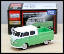 TOMICA PREMIUM 09 VOLKSWAGEN TYPE II PICKUP 1/65 TOMY DIECAST CAR GREEN