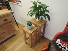 VANCOUVER OAK NEST OF 2 TABLES VERY SOLID AND STURDY SAL027