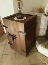 Neu Barschrank rustikale Handarbeit  in der Farbe rotbraun Holzkiste Holztruhe