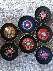 Captain American Spider-man metal Fidget Spinner  Finger Gyro ADHD with TIN BOX