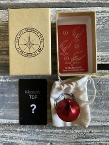 Limited Rare Red ForeverSpin Mystery Spinning Top - World Famous Mystery Tops