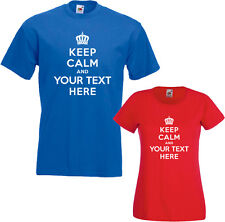 KEEP CALM AND YOUR CHOICE T-SHIRT CHILDRENS MENS WOMENS PERSONALISED CUSTOM TEE