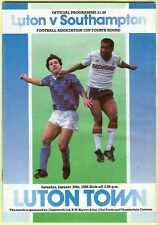 Football Programme - Luton Town v Southampton - FA Cup - 30/1/1988