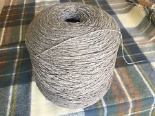 10%Cashmere90%Lambswool Yarn Silver Grey 900g Cone .3ply machine Knit.Uk Spun.