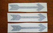 3 Black Arrows  Vinyl Decal Sticker Business Door Window Enter Exit Direction
