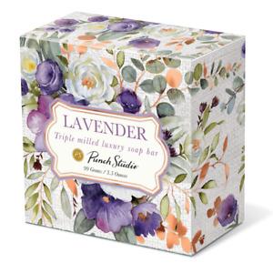 Punch Studio H8 Paper-Wrapped Lavender Scented Boxed Soap 3.5oz - Purple Bouquet