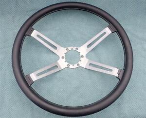OEM GM 4 Spoke Sport Steering Wheel 1970-up Oldsmobile Cutlass 442 9751836 BLACK