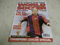 Football Magazine World Soccer October 2000 Champions League Special Serie A