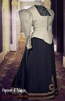 "Late Victorian Umbrella Walking skirt 28""- 42"" waist sewing pattern"