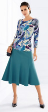Artigiano Italian Wool-Blend Panelled Skirt Size 12 LS172 GG 01