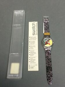 Vintage 1996 JUNGLE TANGLE GK235 SWATCH WATCH Design By Francisco Capdvila Max