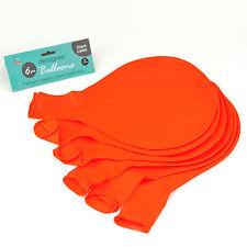 """Orange 36"""" grand géant ovale latex grand ballon fête de mariage décoration-pack de 6"""