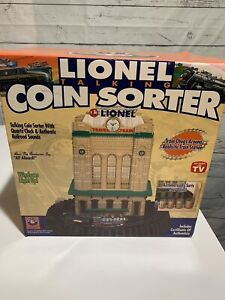 New Ltd Ed Lionel Trains Talking Coin Sorter w/  Clock and Railroad Sounds Emson