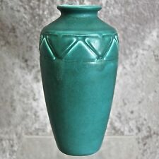"""Rookwood Pottery 7"""" Production Vase #2439, Teal Mat, 1927"""