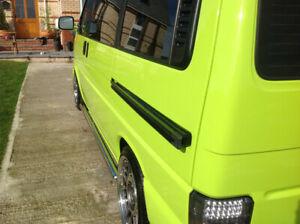 VW T4 Transporter GRP Sliding Door Wedge 40mm Standoff Deep Dish Wide Wheels