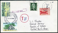 NAURU POSTAGE DUE from USA 1982