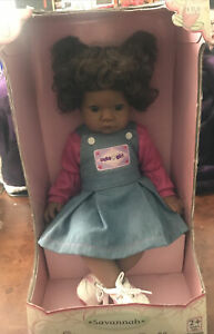 """LEE MIDDLETON African American  20"""" Doll Savanah #02376 2+year Washable New"""