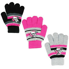 Girls Monster High Knitted Gloves One Size Fits 3-8 Years 800-081