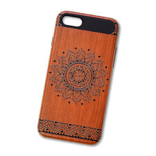 iPhone 7 Wood Style Design Case (Flower)