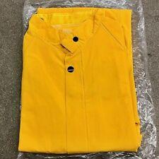 "XXXXL 4XL Yellow Industrial Grade Raincoat .35mm Thickness 48"" Length Rain Coat"