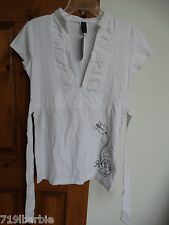 NOTW He Lives girls s/sleeve v-neck blouse shirt top size XL NWT