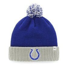 NWT - Youth Boys '47 Brand Indianapolis Colts Dunston Knit Hat Beanie - One Size