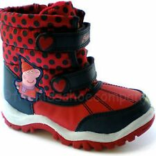 Girls Kid Shoe Size 7 Peppa Pig Red Snow Boots Snowboots Winter New w Tags Rare