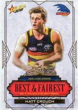 2018 AFL SELECT FOOTY ADELAIDE CROWS BEST FAIREST MATT CROUCH ALBUM CARD BF1