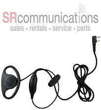 D Ring Headset W/PTT for Kenwood Pro Talk TK2400 TK3400 TK3230 TK2402 TK3402