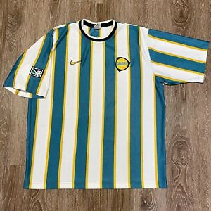 Vintage LA Los Angeles Galaxy Nike 90s Jersey Shirt Kit XL MLS White