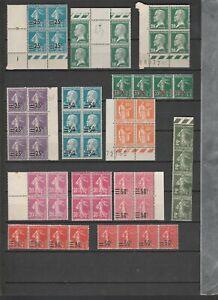 FRANCE / lot de timbres neufs ** en bloc de 4 / belle cote