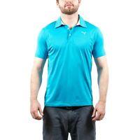 Men's PUMA Golf Tech Vivid Blue Polo Shirt size S (T84) $65