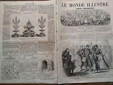 LE MONDE ILLUSTRE1862 N 293 SERVICE POSTAL AUX SOLDATS DU CORPS EXPEDITIONNAIRE