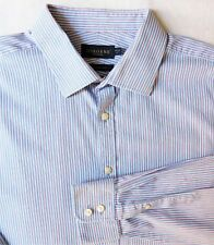 "Mens striped cotton shirt Collar size 18"" tailored fit Osborne City Attire"