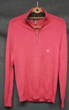 EXPRESS Men's Burgundy NWT Merino Wool Blend 1/2 Zip Sweater Size S