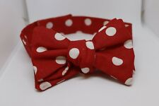 Papillon rosso a pois bianchi --- Valby Handmade ---