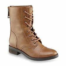 New!! Women's Bongo NADINE Combat Lace Up Boot in Brown 20356 F15
