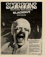 Scorpions Blackout UK LP advert 1982