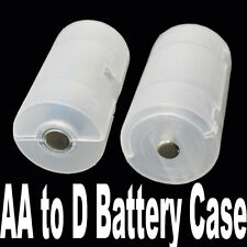 8pcs AA to D Size cell Battery Converter Case Adapter Holder Shell Cover TW