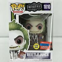 Beetlejuice Funko Pop NYCC 2020 Exclusive Glow In The Dark Vinyl (New) In Hand
