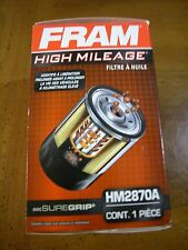 Fram Hm2870A High Mileage Engine Oil Filter Spin-On Full-Flow Sure Grip Lot Of 4 (Fits: More than one vehicle)