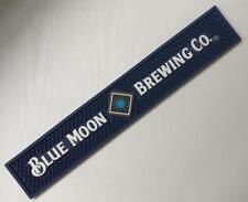BLUE MOON BELGIAN ALE RAIL BAR MAT RUNNER BEER COASTER NEW