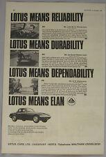 1965 Lotus Elan Original advert No.2