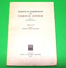 Rassegna di Giurisprudenza sul Codice Civile - Ed. Giuffrè 1952