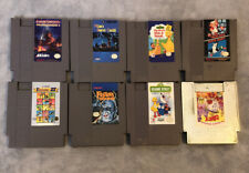 Nintendo NES Game Lot (8 Games) All Cleaned And Tested Mario Dizzy Duck Hunt