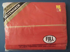 Full Double Flat Sheet - Burnt Orange Cinnamon - Muslin by Tastemaker New in Pkg