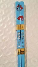 "Astro Boy Mighty Atom & Uran Child Size Chop Sticks 6.5"" Blue w/ Red"