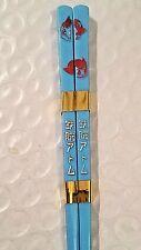 "Astro Boy Mighty Atom & Uran Child Size Chop Sticks 6.5"" BLUE w/ RED"